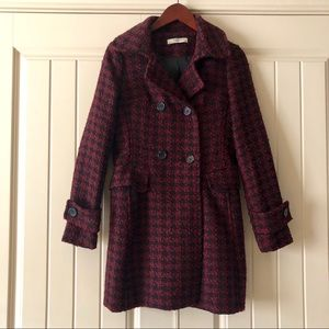 Romy Double Breasted Houndstooth Coat